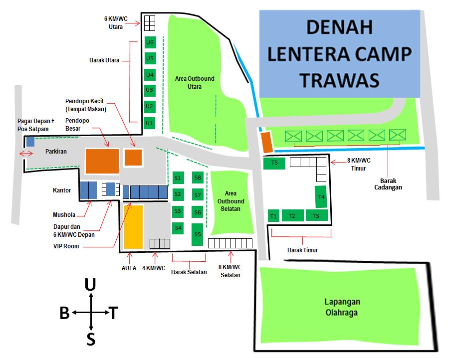 Denah Lentera Camp Trawas